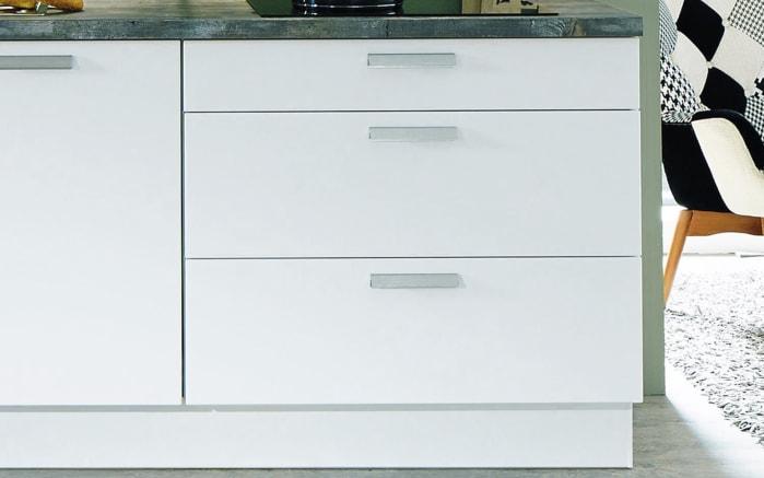 Einbauküche Fashion, Lack alpinweiß matt, inklusive Elektrogeräte, inklusive Siemens Geschirrspüler-03