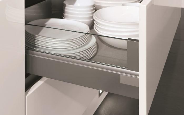 Einbauküche Fashion, Lack alpinweiß matt, inklusive Elektrogeräte, inklusive Siemens Geschirrspüler-04