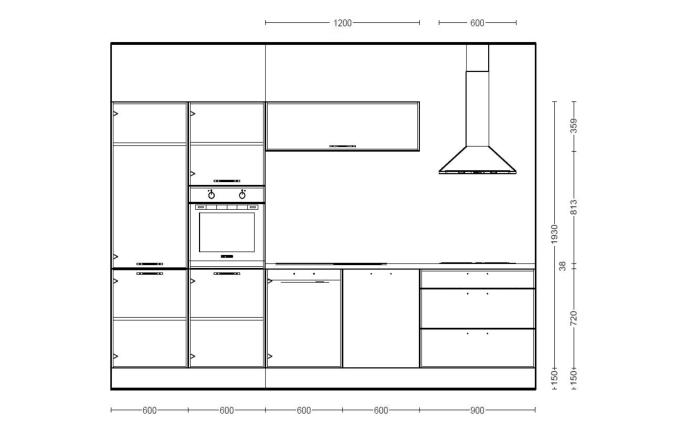 Einbauküche Fashion in alpinweiß Lack, Leonard Geschirrspüler LV1526