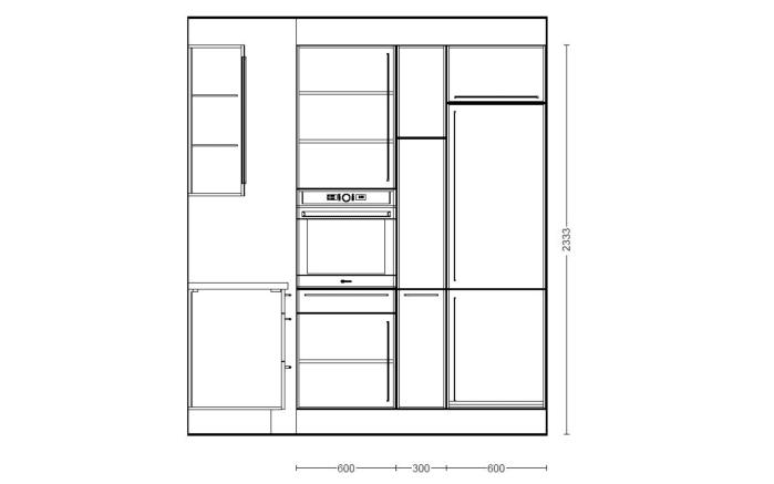 Einbauküche Flash, Lacklaminat Hochglanz weiß, inklusive Elektrogeräte-07