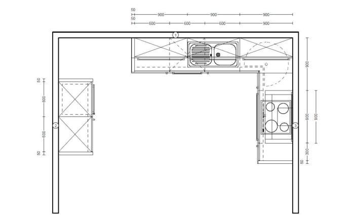 Einbauküche Structura in Halifax-Eiche-Nachbildung, inklusive Junker-Geschirrspüler