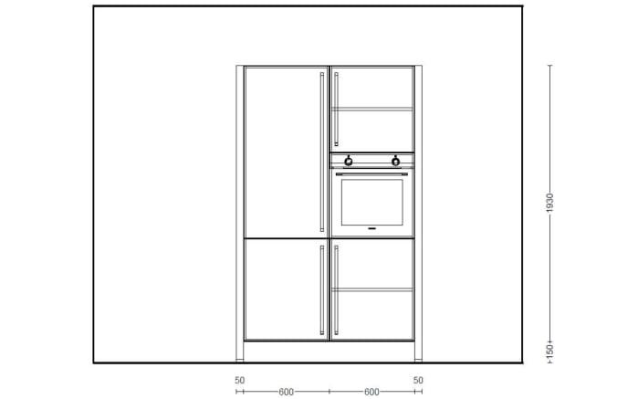Einbauküche Structura in Halifax-Eiche-Optik, Neff-Geschirrspüler