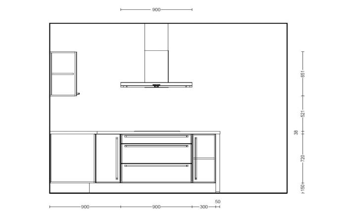 Einbauküche Structura in Halifax-Eiche-Optik, Miele-Geschirrspüler
