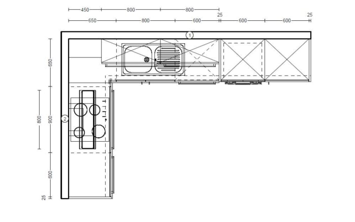 Einbauküche Flash in weiß, Neff-Geschirrspüler GV1400A