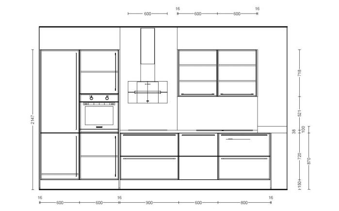 Einbauküche Touch, Lacklaminat supermatt schwarz, inklusive Elektrogeräte-04