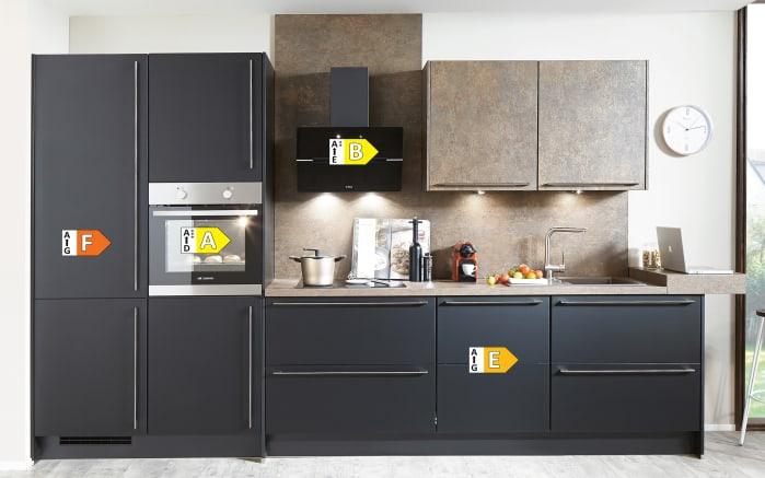 Einbauküche Touch, Lacklaminat supermatt schwarz, inklusive Elektrogeräte-03