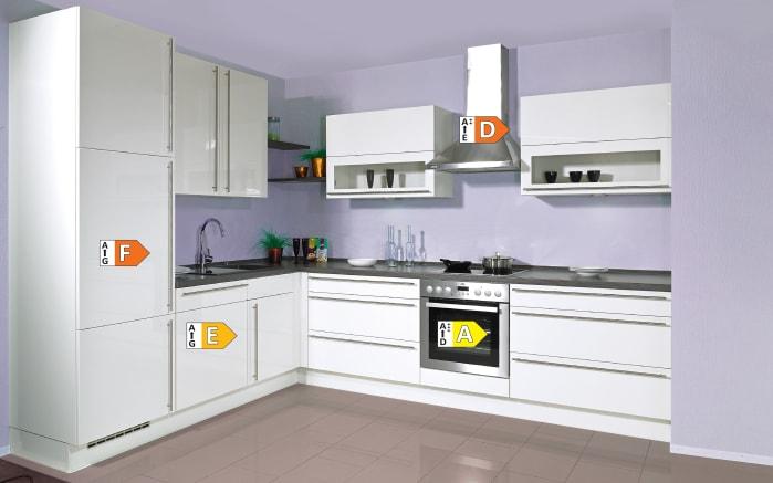 Einbauküche Flash, Hochglanz Lacklaminat magnolia, inklusive Elektrogeräte, inklusive AEG Geschirrspüler-05