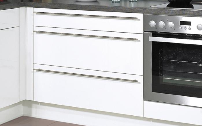 Einbauküche Flash, Hochglanz Lacklaminat magnolia, inklusive Elektrogeräte, inklusive AEG Geschirrspüler-03