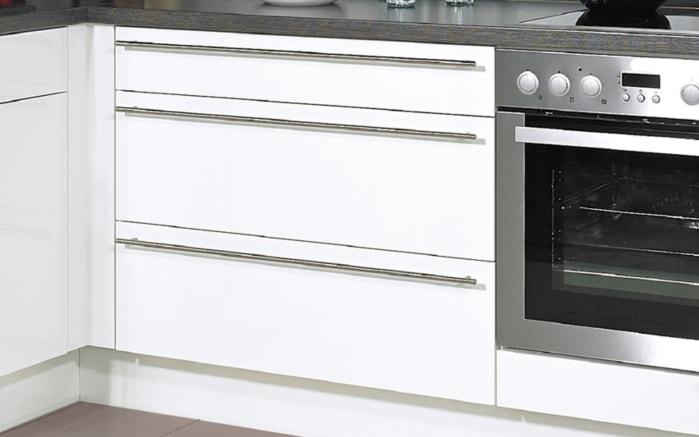Einbauküche Flash, Lacklaminat Hochglanz magnolia, inklusive Elektrogeräte-03
