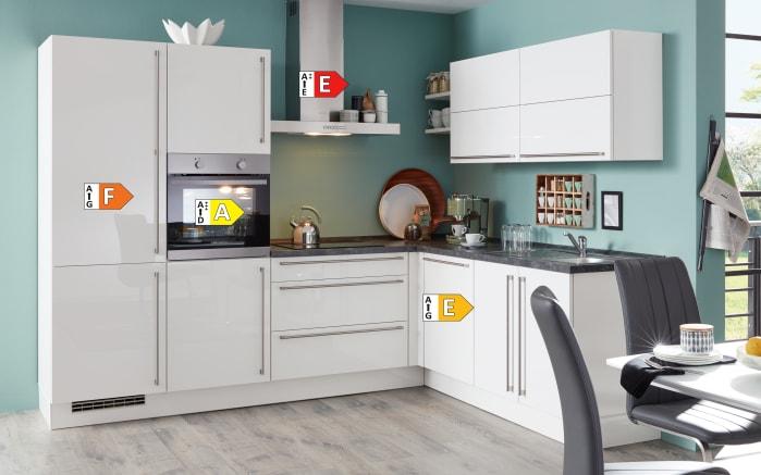 Einbauküche Flash, Lacklaminat Hochglanz weiß, inklusive Elektrogeräte-06
