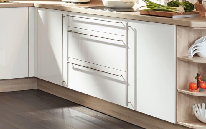 Einbauküche Flash, Hochglanz Lacklaminat magnolia, inklusive Elektrogeräte-02