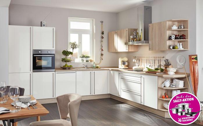 Marken-Einbauküche Flash in magnolia
