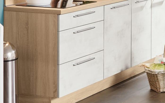 Einbauküche Riva, Weißbeton Nachbildung, inklusive Elektrogeräte-03