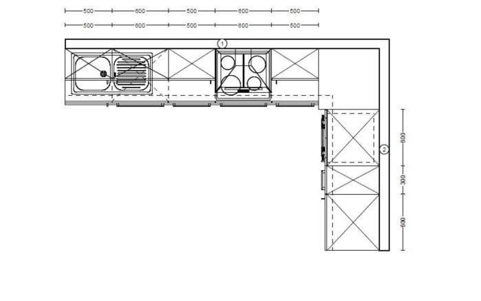 Marken-Einbauküche Flash in weiß, Siemens-Geschirrspüler SN614X00AE
