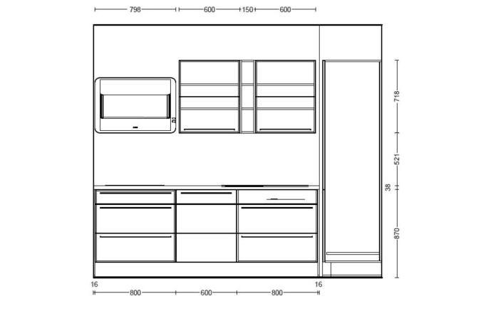 Einbauküche Flash, Lacklaminat weiß Hochglanz, inklusive Elektrogeräte-05