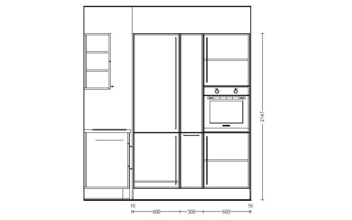Einbauküche Flash, Lacklaminat weiß Hochglanz, inklusive Elektrogeräte-06