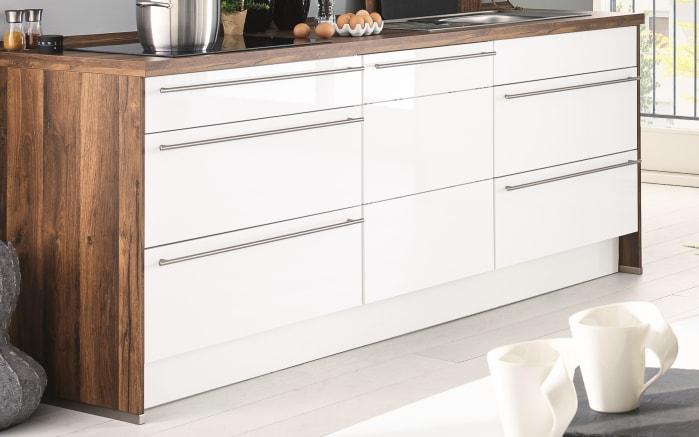 Einbauküche Flash, Lacklaminat weiß Hochglanz, inklusive Elektrogeräte-03