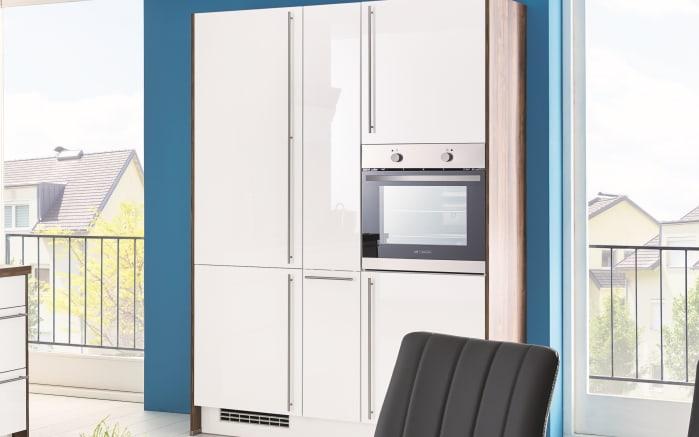 Einbauküche Flash, Lacklaminat weiß Hochglanz, inklusive Elektrogeräte-02