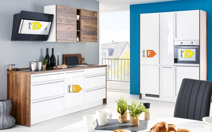 Einbauküche Flash, Lacklaminat weiß Hochglanz, inklusive Elektrogeräte-04