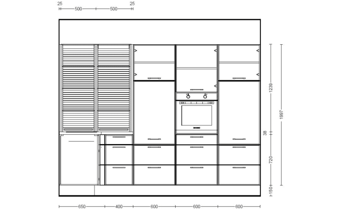 Einbauküche Riva in Beton-Schiefergrau, Siemens Geschirrspüler SN614X00AE