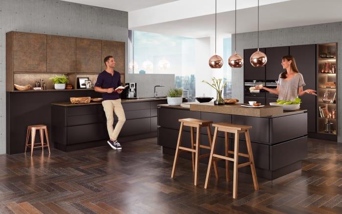 Einbauküche Touch in schwarz, Miele Geschirrspüler