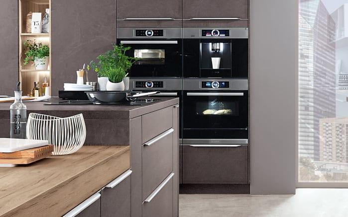 Einbauküche Stone Art in Grauschiefer-Optik, Siemens-Geschirrspüler