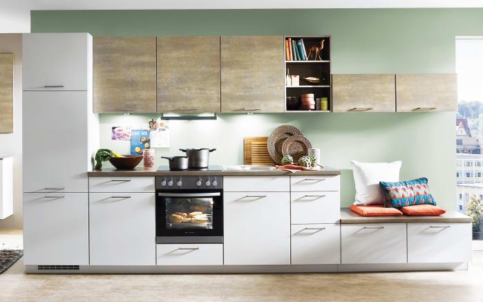 Einbauküche Touch in magnolia supermatt, Siemens-Geschirrspüler