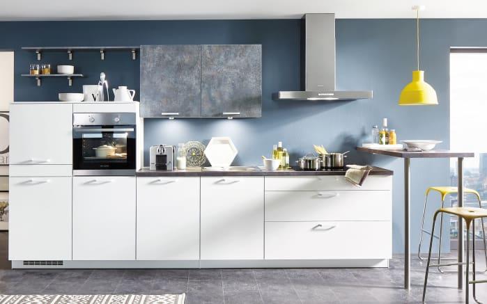 Einbauküche Speed in alpinweiß, Siemens-Geschirrspüler