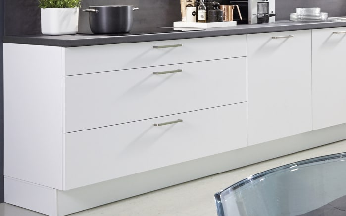 Einbauküche Fashion 168, alpinweiß matt Lack, inklusive Elektrogeräte, inklusive Neff Geschirrspüler-03