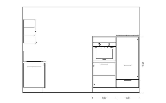 Einbauküche Fashion 168 in alpinweiß, Leonard-Geschirrspüler LV1526
