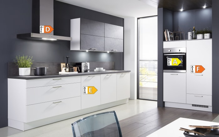 Einbauküche Fashion 168, alpinweiß matt Lack, inklusive Elektrogeräte-05