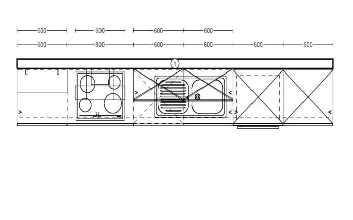 Einbauküche Touch in schiefergrau seidenmatt, Leonard Geschirrspüler LV1526