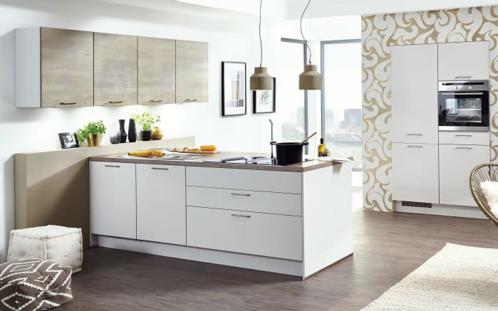 Einbauküche Touch in seidengrau, Bauknecht-Geschirrspüler