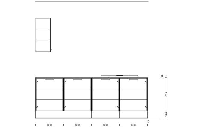 Einbauküche Touch in seidengrau, Miele Backofen H22661B