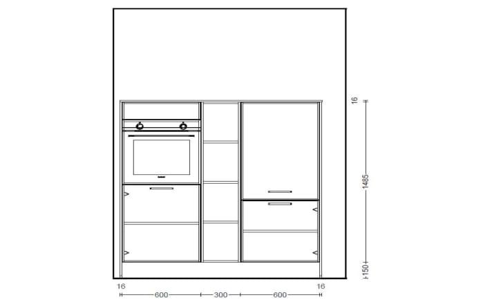Einbauküche Touch alpinweiß seidenmatt, Siemens-Geschirrspüler