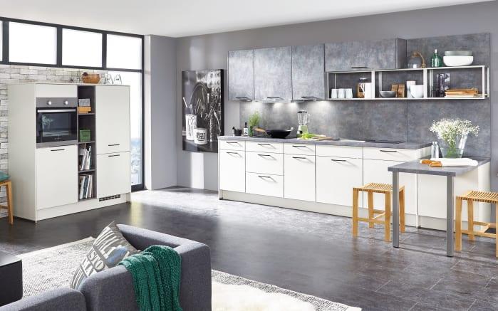 Einbauküche Touch alpinweiß seidenmatt, Miele Geschirrspüler
