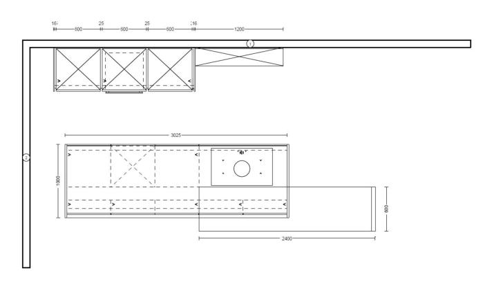 Einbauküche Riva in Betonschiefergrau
