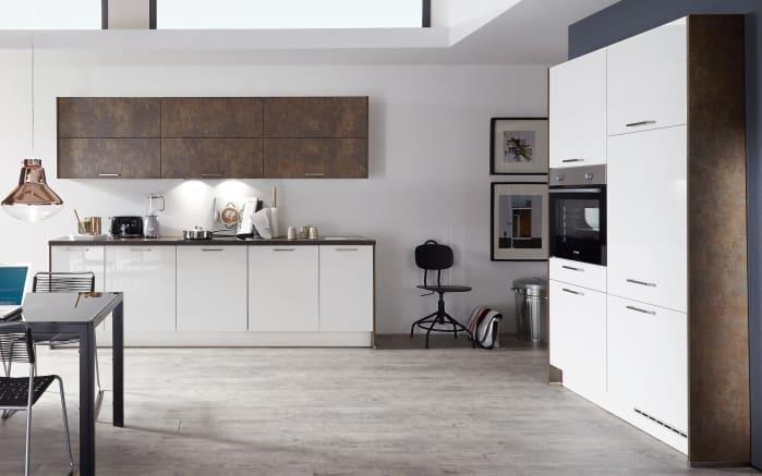 Einbauküche Flash in weiß Hochglanz, Bauknecht-Geschirrspüler