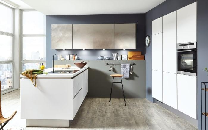 Einbauküche Fashion in weiß, AEG Geschirrspüler