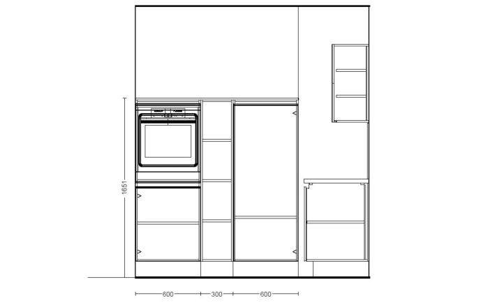 Einbauküche Fashion, alpinweiß, inklusive Elektrogeräte, inklusive AEG Geschirrspüler-05