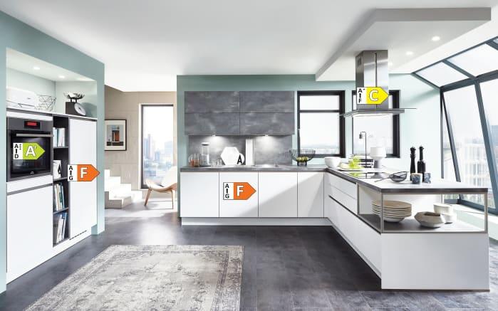 Einbauküche Fashion, alpinweiß, inklusive Elektrogeräte, inklusive Siemens-Geschirrspüler-05