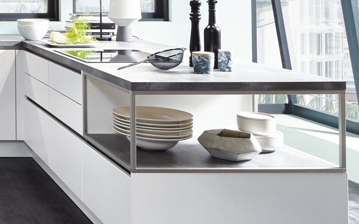Einbauküche Fashion, alpinweiß, inklusive Elektrogeräte, inklusive Siemens-Geschirrspüler-02