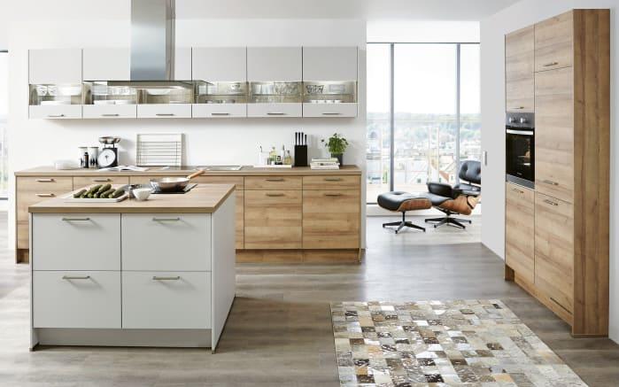 Einbauküche Fashion in Lack alpinweiß matt, Siemens-Geschirrspüler
