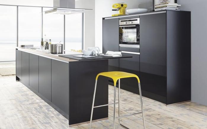 Einbauküche Touch in Lacklaminat schwarz supermatt
