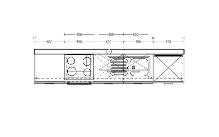 Einbauküche Laser in seidengrau, Miele Geschirrspüler G4380VI