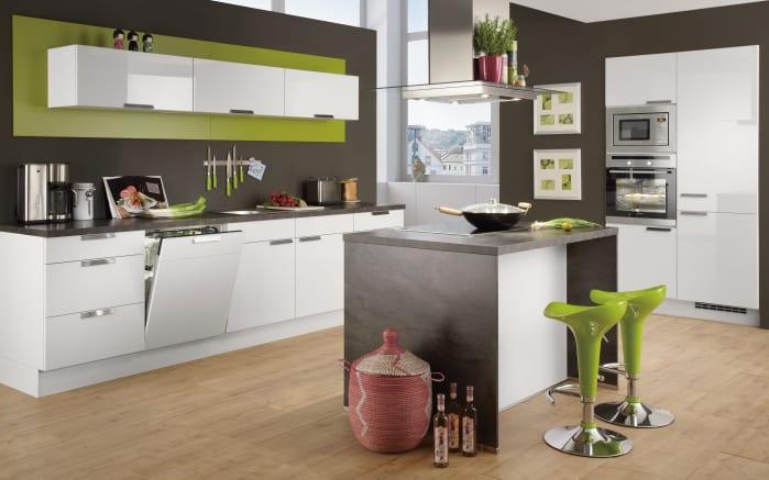 Einbauküche Focus in alpinweiß, Bauknecht-Geschirrspüler