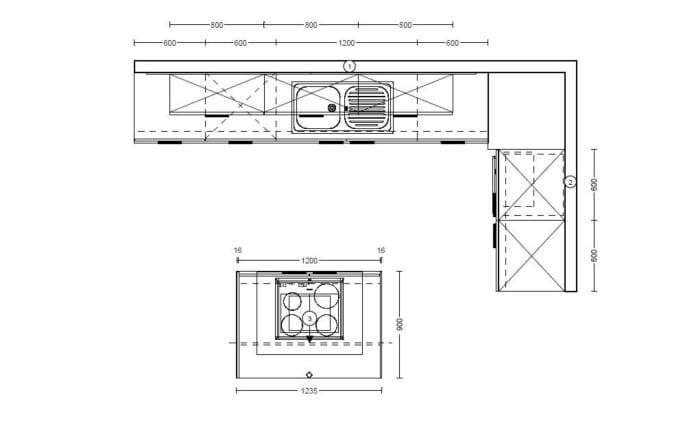 Einbauküche Focus in Ultrahochglanz alpinweiß, Junker-Geschirrspüler JS03VN90