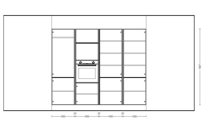 Einbauküche Fashion 171 in seidengrau, Bosch-Geschirrspüler