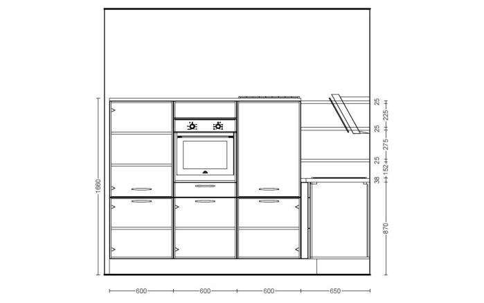 Einbauküche Flash, magnolie Hochglanz, inklusive Elektrogeräte-05