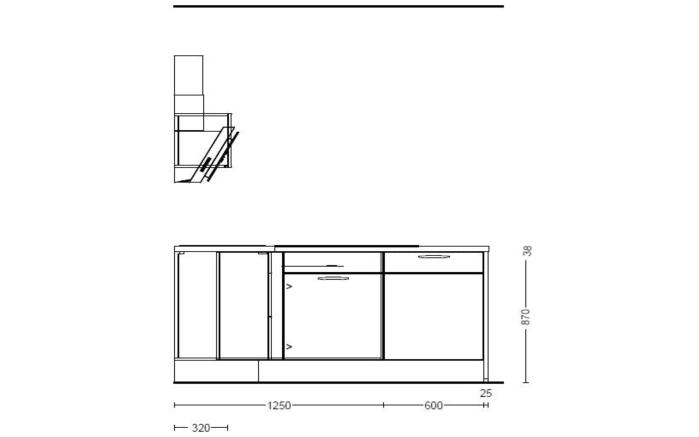 Einbauküche Flash, magnolie Hochglanz, inklusive Elektrogeräte-07